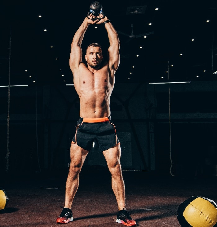 Kettlebell Overhead Lunges